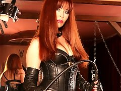 Mistress Ramirez poses in leather