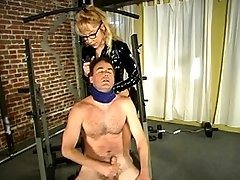 Janay teaches Wild Bill how to work-out and jack off.