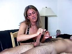 Slave endures hard slap on his cock as he requested it