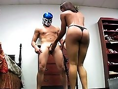 Ebony boss lady Misty Stone lays the smackdown on a perverted intruder