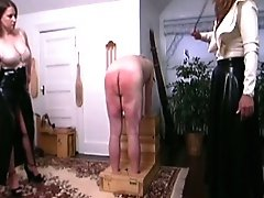 Richard is caned, paddled, spanked with a hairbrush, and whipped...until he bleeds